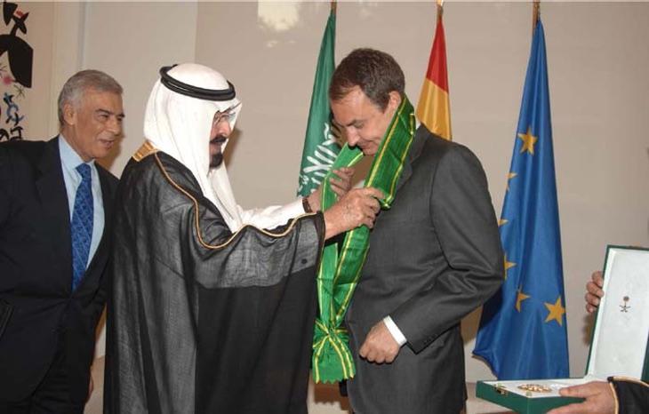Rodríguez Zapatero, condecorado por Arabia Saudí