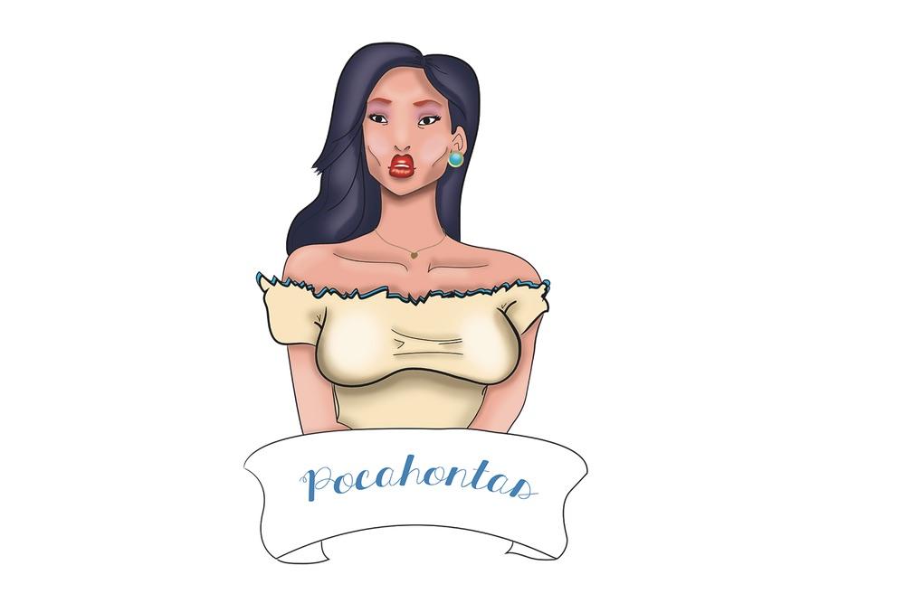 Pocahontas, de plástico a sus 38 años (Roberto Cruz)