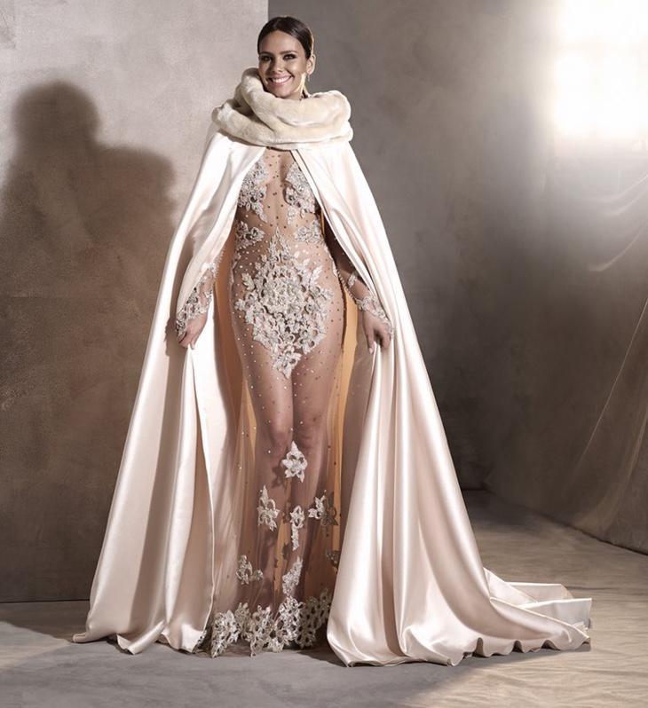 Cristina Pedroche y su vestido de transparencias y cristales