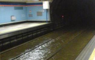 Metro Madrid no está preparado para una ciudad inundada
