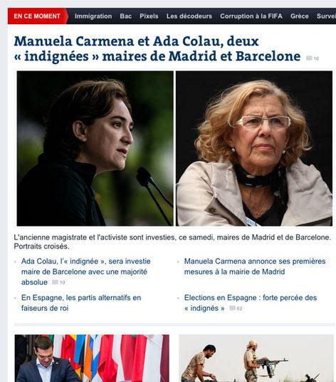 Le Monde habla sobre Carmena y Colau