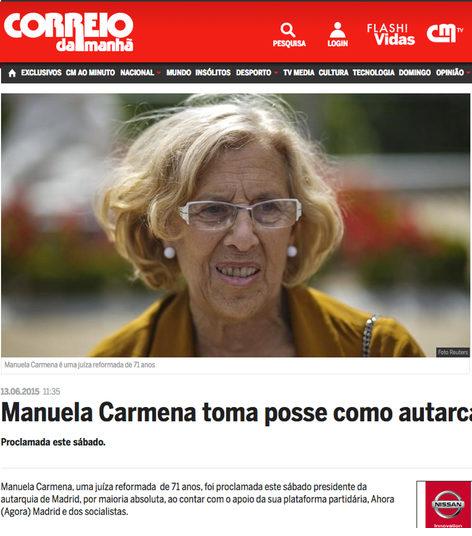 El tabloide de Lisboa recoge la noticia de la nueva alcaldesa