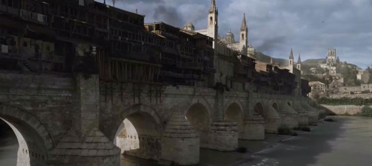 El puente romano de Córdoba acoge a una pequeña ciudad en la serie