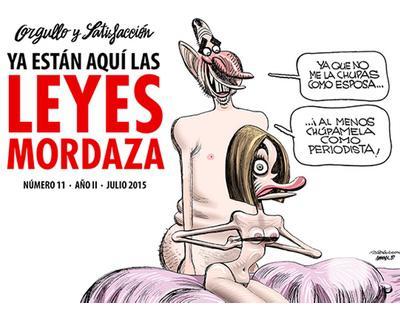 Orgullo y Satisfacción desafía a la Ley Mordaza con los Reyes Felipe y Letizia desnudos en portada