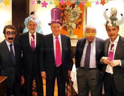 La cena de Rajoy, Zapatero, Aznar, González y el Rey emérito, en memes