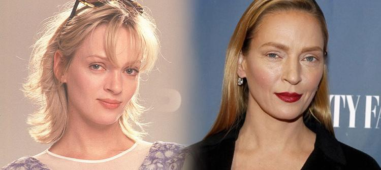 Mucho se habló del cambio de Thurman, aunque ella afirmó que todo era producto del maquillaje