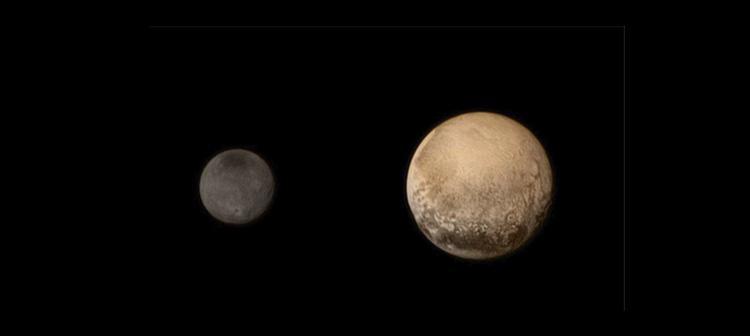 Caronte es uno de los cinco satélites de Plutón