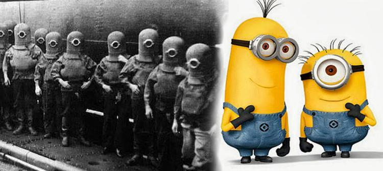Los trajes de los marinos pueden recordar a los Minions