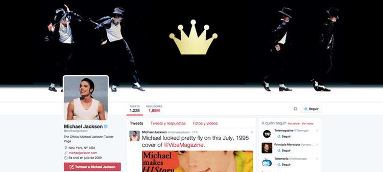 La cuenta de Twitter del Rey del Pop sigue activa cinco años después de su muerte