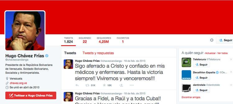 El último tweet de Chávez se refería a su enfermedad