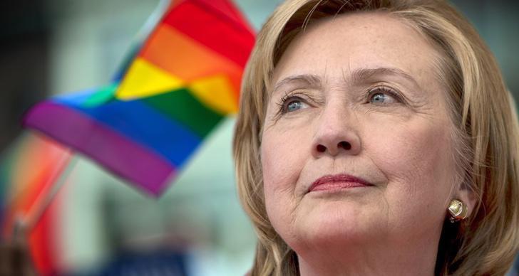 Hillary Clinton, abanderada LGTB