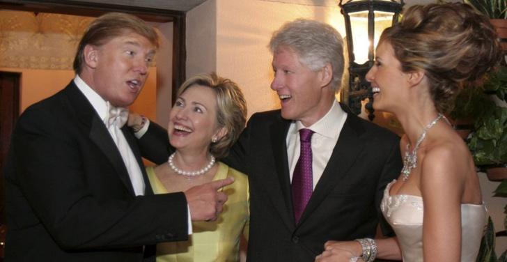 Hillay Clinton en la boda de Donald Trump