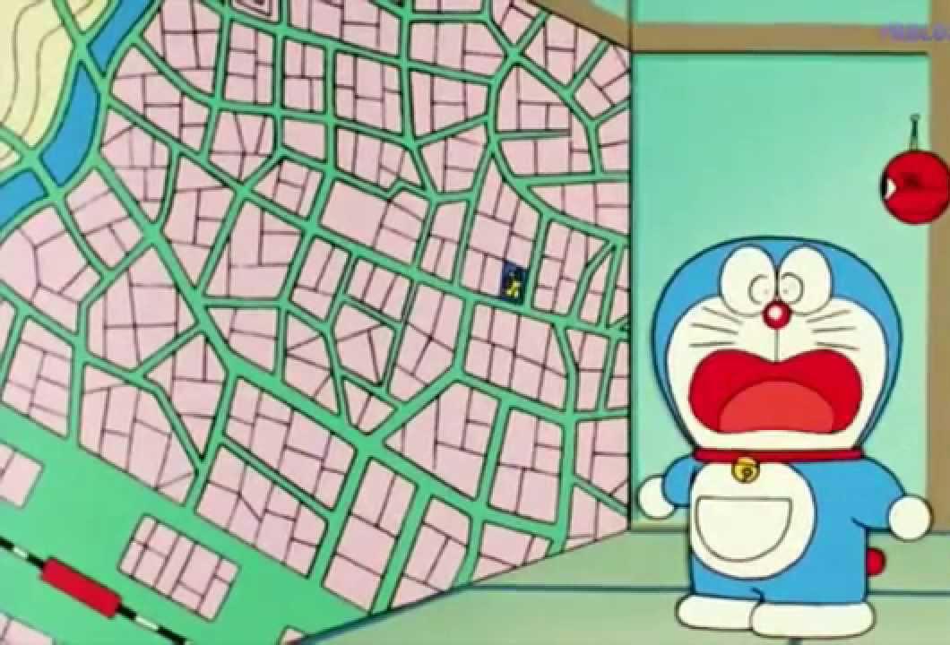 Aquí Doraemon cazado por sorpresa mirando el Google Maps