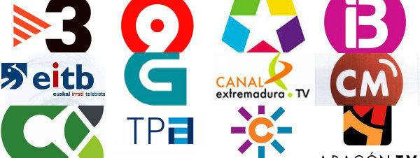 Principales logotipos de las televisiones públicas autonómicas