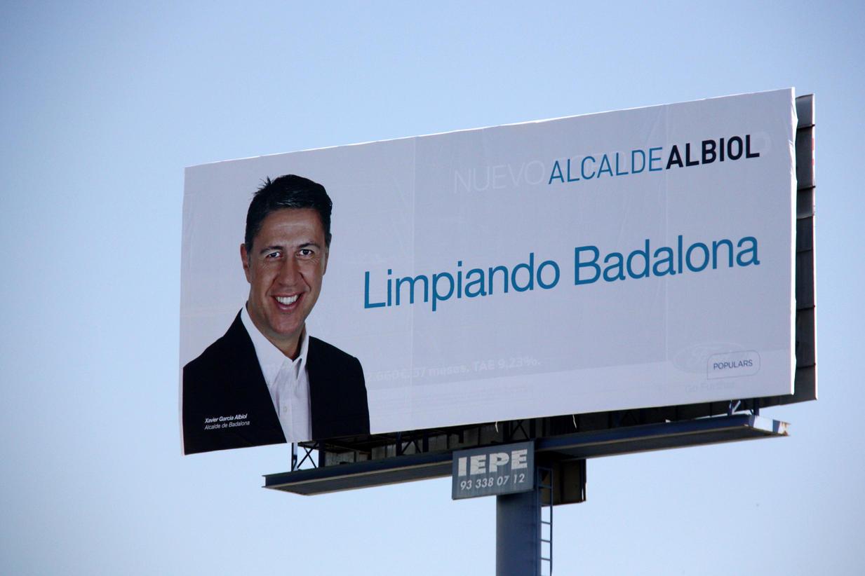 Eslogan de Xavier García Albiol. Elecciones municipales de Badalona 24-M