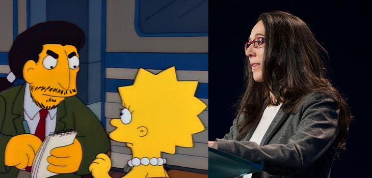 Pablo Iglesias suspendió a una alumna por llevar perlitas, según algunos medios, como Lisa Simpson