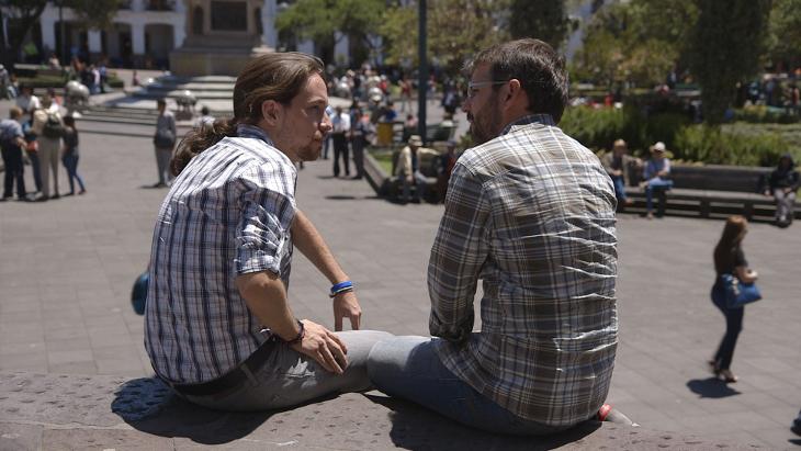 Pablo Iglesias en 'Salvados' con Jordi Évole