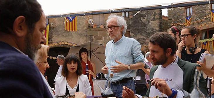 Imagen del rodaje de la película en Cataluña