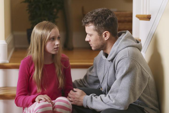 Ben y su hija Abby en Secretos y Mentiras