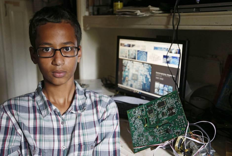 Ahmed en su cuarto