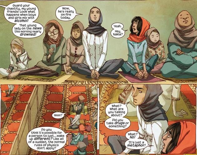 Kamala Khan en un cómic de Márvel