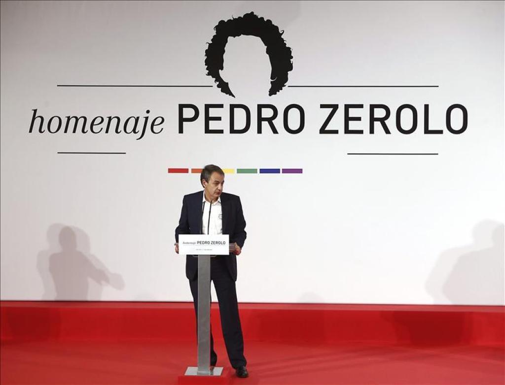 Acto de homenaje a Pedro Zerolo, en el que intervino Rodríguez Zapatero