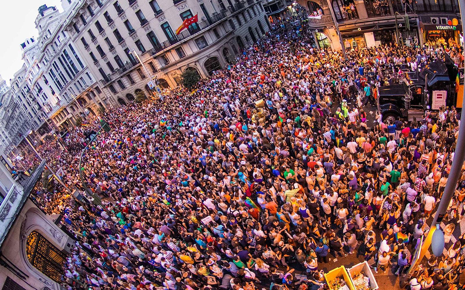 La manifestación del Orgullo congrega a cientos de miles de personas cada año en Madrid
