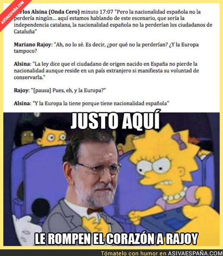 Lisa también deja K.O. a Rajoy (Fuente: Así va España