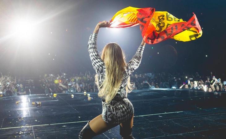 Beyoncé saca la bandera española en Barcelona