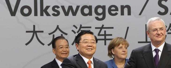 Angela Merkel ha representado a la marca Volkswagen en diferentes viajes diplomáticos