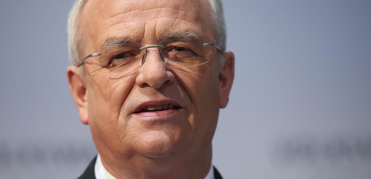 Martin Winterkorn, ahora expresidente ejecutivo de Volkswagen