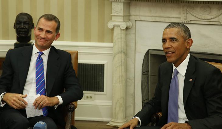 En el encuentro entre Obama y Felipe VI, el Presidente de EEUU se mostró contrario a la independencia catalana
