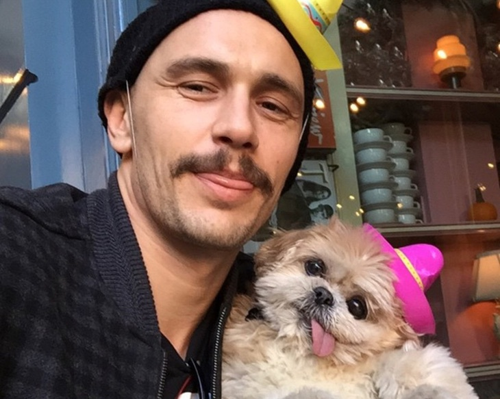 James Franco y Marnie the dog