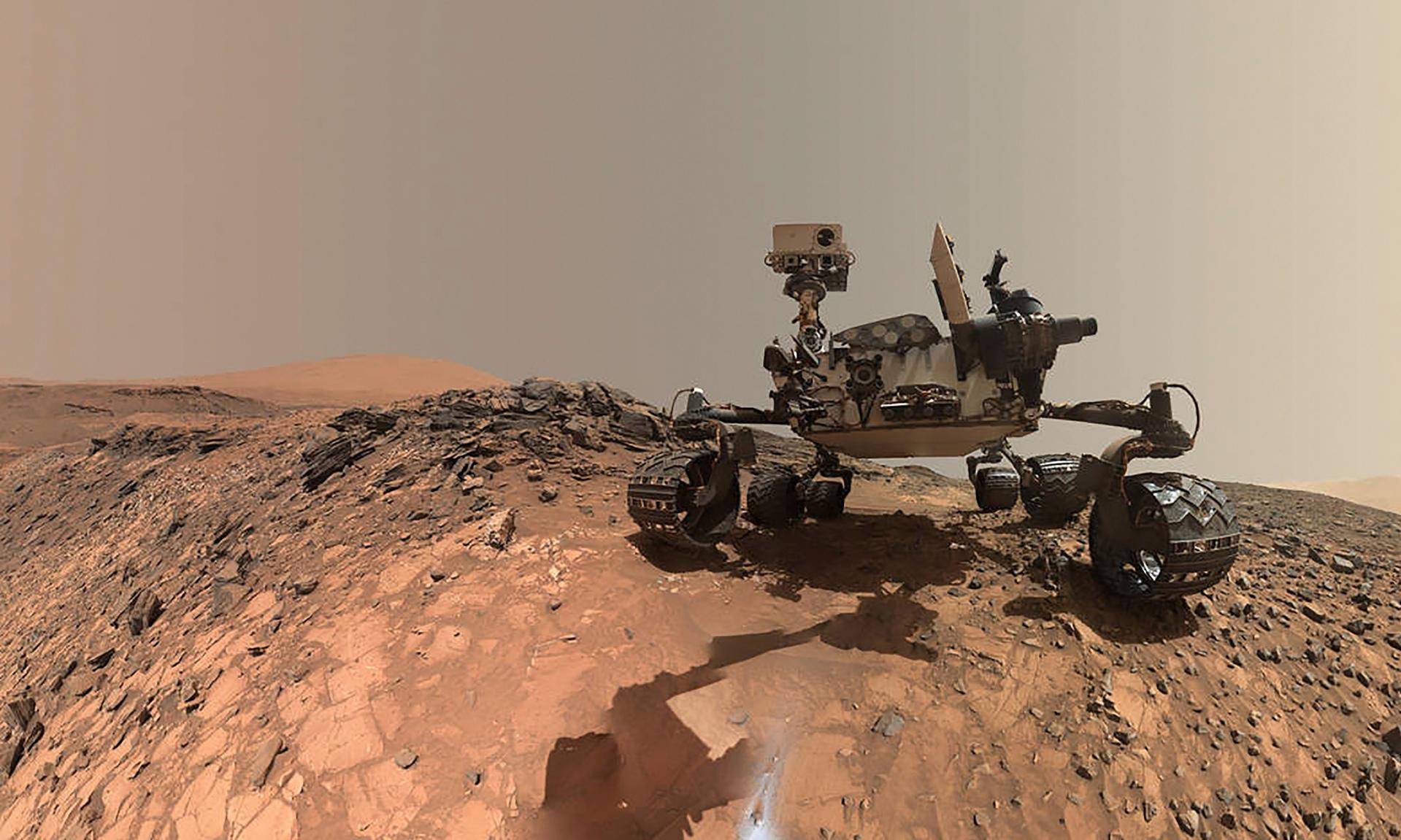 El rover Curiosity, actualmente recorriendo Marte (Fuente: NASA)