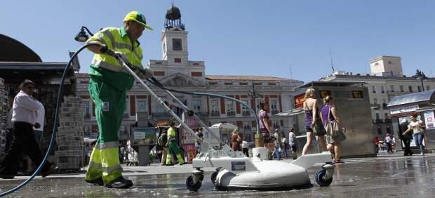 Trabajador de limpieza urbana de Madrid