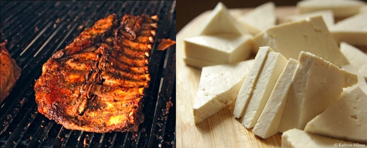 Costillar vs tofu