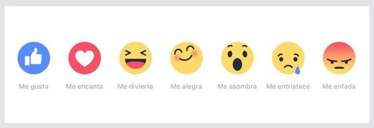 Las emociones de Facebook se llaman 'Reactions'