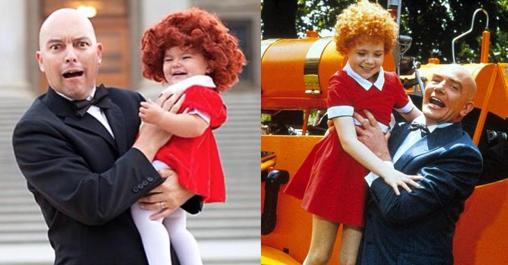 Willow y su padre son Annie y Oliver Warbucks (Instagram: @ginalee)
