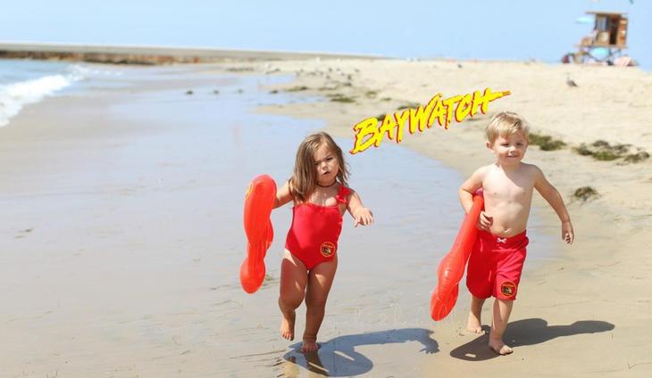 Willow y Cooper son 'Los Vigilantes de la Playa' (Instagram: @ginalee)