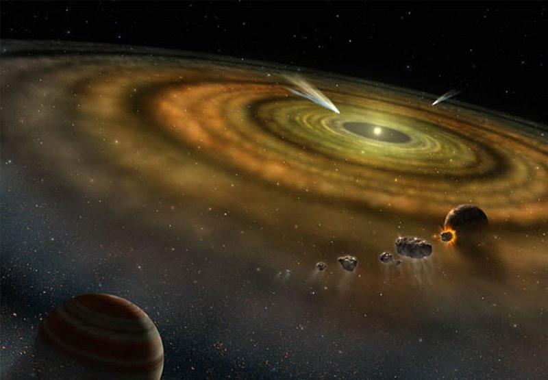 Visión artística de un proto sistema solar