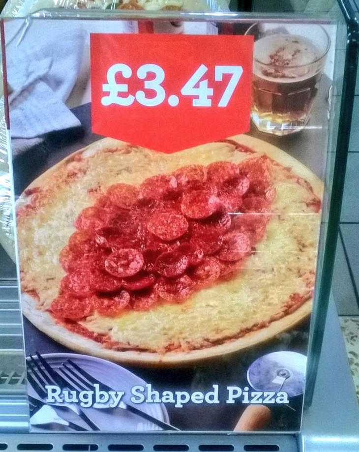 Vagina pizza morrisons rugby