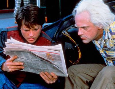 ¡Mira Doc! Marty McFly llega a la España del futuro y flipa con el panorama