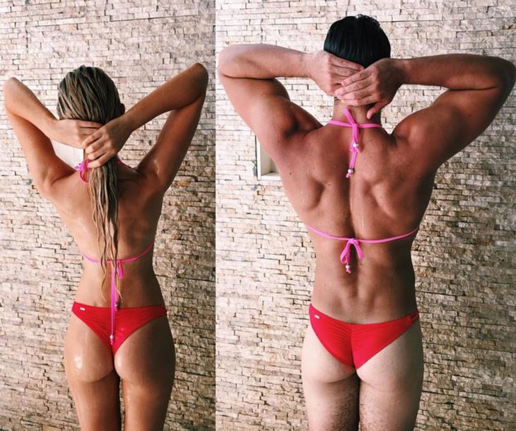 Gabrielle no va a poder volver a ponerse ese bikini... (Fuente: Instagram @connermalan)