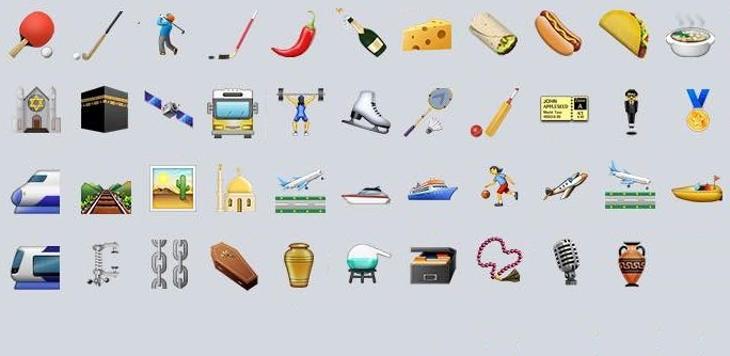 Algunos de los nuevos emojis de iOS 9.1