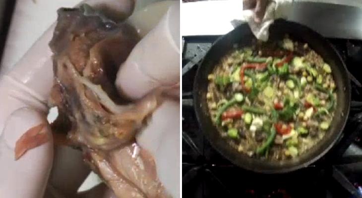 Paella con tortuga