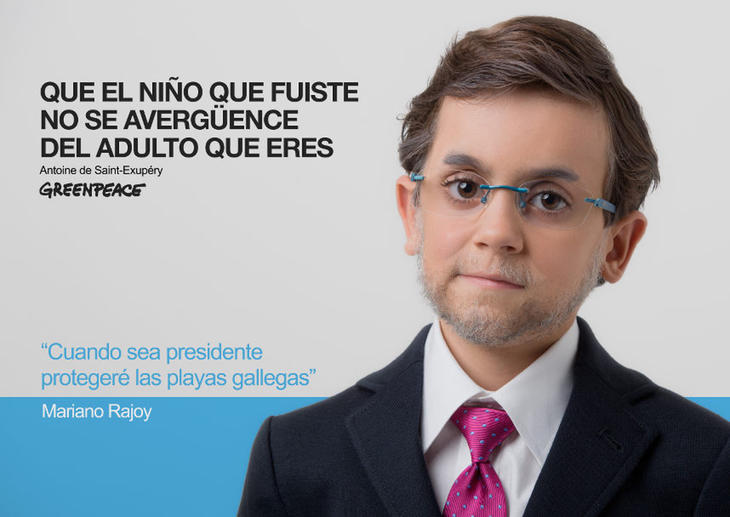 Mariano Rajoy de niño (Fuente: Greenpeace)