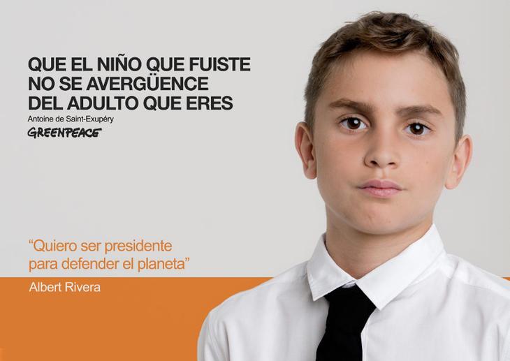 Albert Riverade niño (Fuente: Greenpeace)