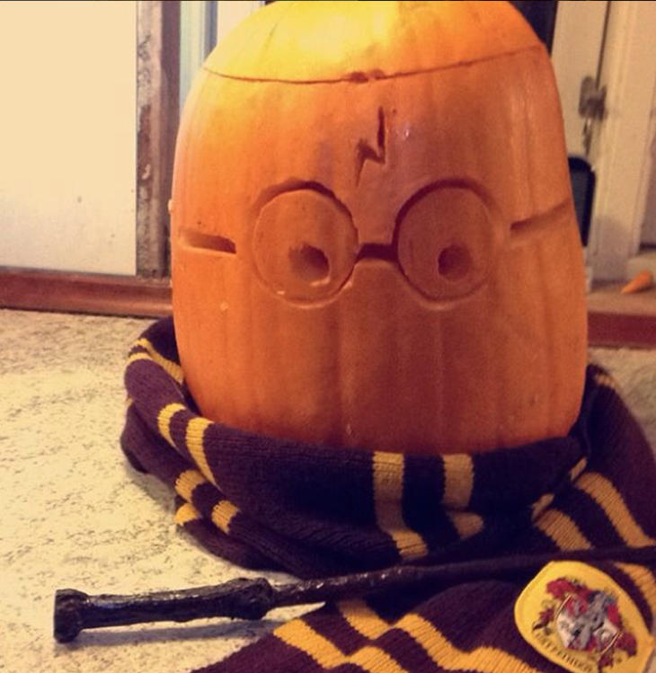 La calabaza de Harry Potter (Instagram: @harrypotter_myworld)