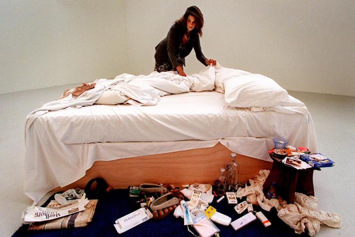 Tracey Emin y su obra 'My Bed'
