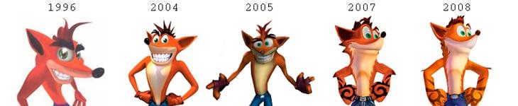Crash ha llegado a tener hasta tatuajes en sus numerosos cambios estéticos
